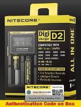 Nitecore Digi D2 Universal Smart Charger IMR, LiIoN, Ni-MH 18350 18650 E... - $17.90