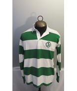 Saskatachewan Roughriders Polo Shirt - Striped with Old Logo - Men's XL ... - $75.00