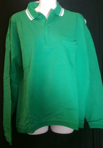 Vintage Gap Green Polo Shirt Medium M Cotton Long Sleeves St. Patrick's Day 90's