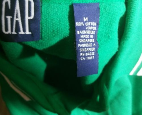 Vintage Gap Green Polo Shirt Medium M Cotton Long Sleeves St. Patrick's Day 90's image 3