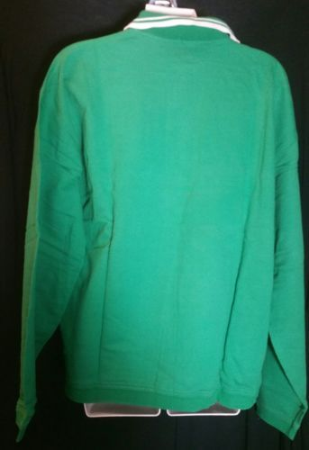Vintage Gap Green Polo Shirt Medium M Cotton Long Sleeves St. Patrick's Day 90's image 2