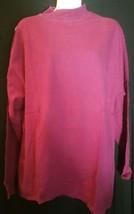 Vintage Gap Mock Turtleneck Shirt Medium M Top Striped Red Blue Cotton USA - $12.86