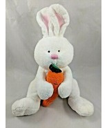 "Ty Pluffies Snackers Rabbit Plush Carrot Bunny 12"" 2005 Stuffed Animal toy - $6.95"