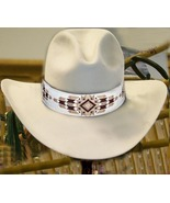 Cheyenne Native American Style Extra Wide Hat Band Beaded Hatband - $290.00