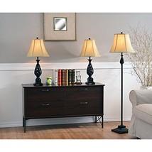 Lamp Kenroy Home 21017GFBR Prescott Table and Floor 3 Pack Golden Flecked - $159.66
