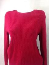 Croft and Barrow Women's Sweater Red Knit Long Sleeve Scoop Neck XL Bin ... - $7.25