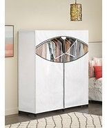 Whitmor ExtraWide Portable Clothes Storage Closet Wardrobe White 6822-167-B - $37.05