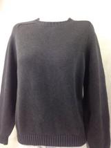 Lands' End Women's Sweater Dark Gray Long Sleeve Heavy Warm Size L Bin 2... - $14.03