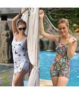 Women One Piece Swimsuit Ladies Jumpsuit Swimwear Animal Print Bathing S... - $34.95