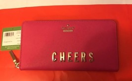 kate spade new york Cameron Street Lacey Wallet Pink Confetti Free Shpping - $145.12