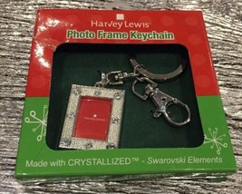 Harvey Lewis Photo Frame Swarovski Elements Silver Tone Keychain - $14.85