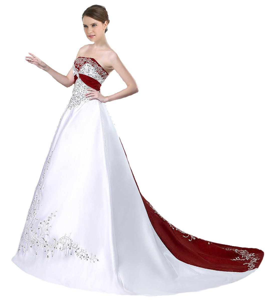 Wedding White Gown Dress: Cheap Burgundy And White Wedding Dresses,Wedding Gown