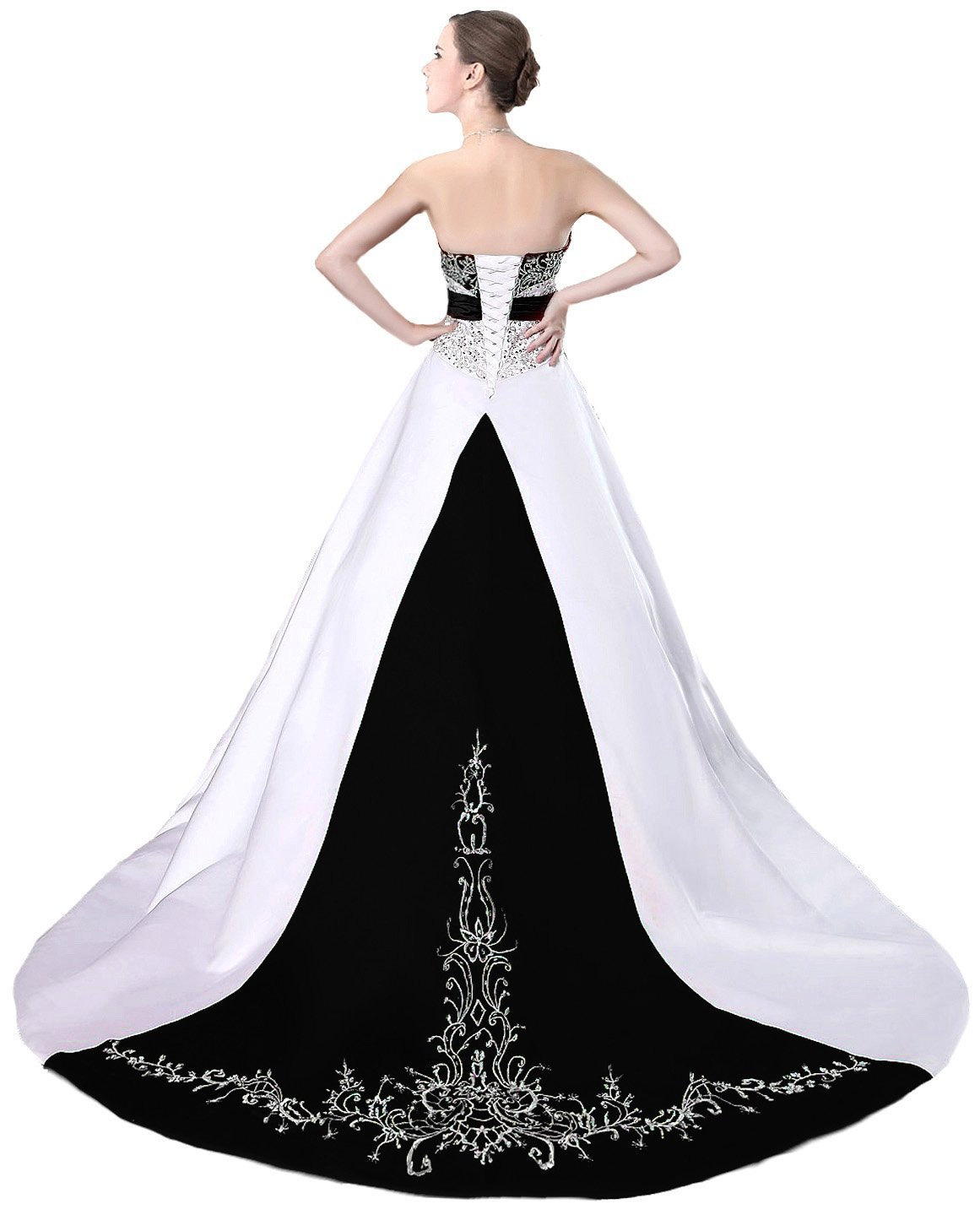 Ball Gown Black and White Wedding and 50 similar items