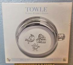 "Towle Silver Plate Porriger Nursery Rhymes Original Box 4.75"" - $24.00"