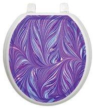 Toilet Tattoos TT1023R Purple Plumes Decorative... - $37.65
