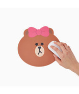 LINE Friends CHOCO Character BROWN Sister Mouse Pad Desktop Computer Acc... - $15.40 CAD