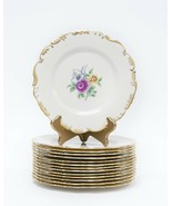 Lenox 1881/0438 set of 14 luncheon / dinner plates - gold floral  - $375.00