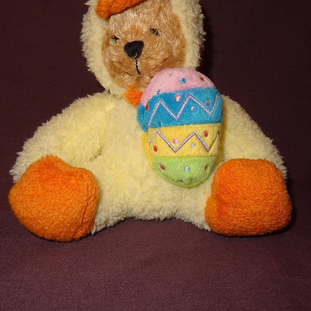 "Teddy Bear Duck Costume Easter Egg  Plush Stuffed Animal Toy 5"" Plushland 2006"