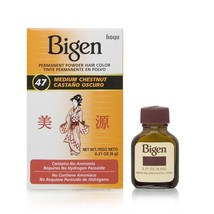 Bigen Permanent Powder Hair Color, Medium Chestnut, .21 Ounce - $9.90