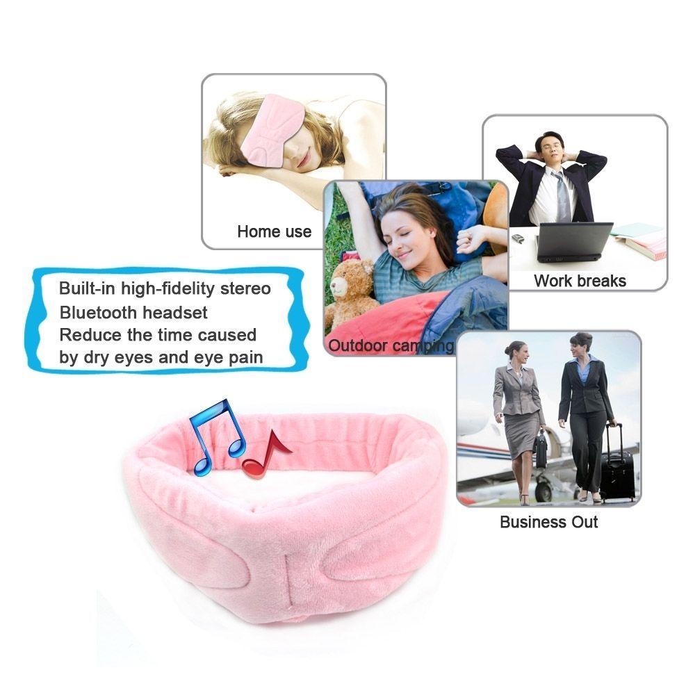 Wireless Bluetooth 4.1 Stereo Sleeping Headphone Wear Eye Mask Phone Call Answer