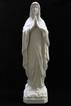 "25"" Our Lady of Lourdes Virgin Mary Mother White Statue Sculpture Made i... - $139.99"