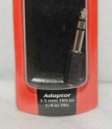 Hosa Technology GPM103 Adaptor Three And Half TRS To Quarter Inch Same