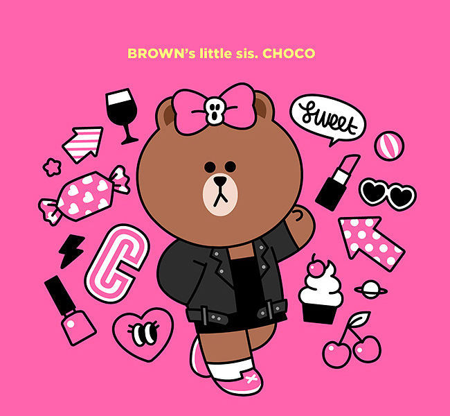 LINE Friends CHOCO Character BROWN Sister Mouse Pad Desktop Computer Acc Laptop