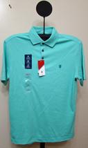 IZOD Aqua Sky Solid Windward Cool Interlock Sun Control Polo Shirt - Small - $21.95