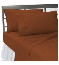 1000TC 100%EGYPTIAN COTTON  ALL BEDDING ITEMS UK SINGLE SIZE BRICK RED S... - $18.05+