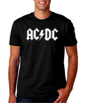 ACDC LOGO BLACK MEN T SHIRT MUSIC ROCK PUNK RET... - $19.99 - $25.99