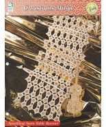 Sparkling Stars Table Runner, Crochet Collectible Doily Pattern HWB 109141 - $2.95