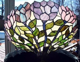 Slag Glass Stained Glass Chandelier Hanging Lamp Light Fixture - $396.00