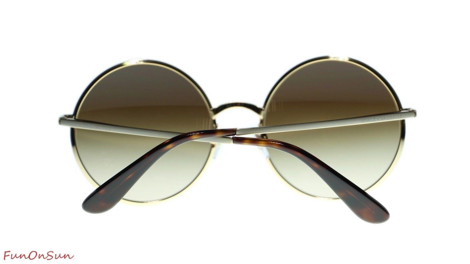 Dolce Gabbana Women Sunglasses DG2155 129713 Gold/Brown Gradient Lens 56mm