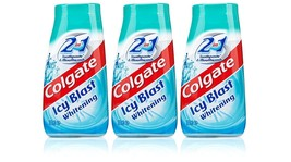 3x Colgate 2 in 1 Toothpaste & Mouthwash ICY BLAST Whitening 100ml Trave... - $18.00