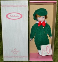 """Chatelaine 13.5"""" Doll Bisque Porcelain Red Hair Blue Eyes Green Outfit i... - $9.74"""