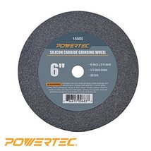 POWERTEC 15500 12 Arbor 36Grit Silicon Carbide Grinding Wheel 6 by 34 - $18.98