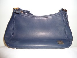 Liz Claiborne Accessories Small Blue Leather Shoulder/Handbag Purse - $19.99