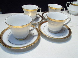 4 Noritake Signature Gold Cups & Saucers~~really nice~~set of four - $29.99