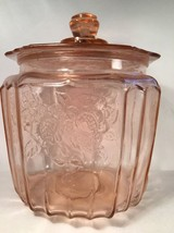 1940s Anchor Mayfair Depression Glass Pink Cani... - $39.59