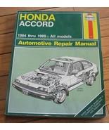 HONDA ACCORD 1984-1989 all models HAYNES MANUAL  #1221 *** EXCELLENT *** - $1.61