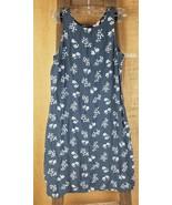 J. Crew women's 8 floral sleeveless shift dress gray knee length - $29.65