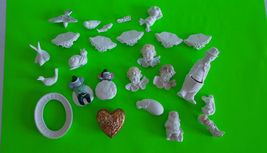 Ready to paint ceramic bisque Lot of multiple theme angel animals figure... - $19.99