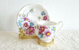 Vtg Royal Albert Bone China England Flower of the month Tea Cup Saucer C... - $17.99