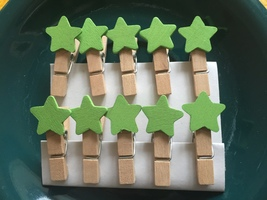 120pcs Green Star Wooden Clothespin, Wooden Cli... - $9.80