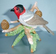 Lenox Red Faced Warbler Sculpture Hand Painted Garden Bird Series COA New - $49.90