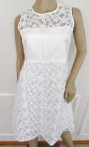 Nwt Calvin Klein Sleeveless Mesh Insert Cocktail Party A line Dress Sz 2... - $69.25
