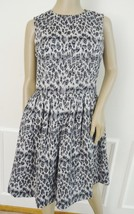 Nwt Taylor Jacquar Fit & Flare Sleeveless Cocktail Party Dress Sz 8 Gray Cheetah - $69.25