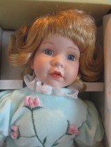 "Seymour Mann Connoisseur Collection doll; POLLY, BLONDE HAIR BLUE EYES 14"" - $44.55"