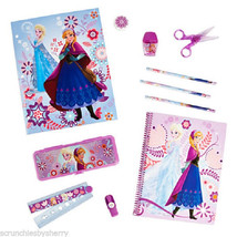 Disney Frozen School Supply Kit Pencil Notebook Sharpner Scissors Ruler New  - $24.70+