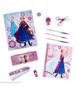 Disney Frozen School Supply Kit Pencil Notebook Sharpner Scissors Ruler New  - $27.18 - $38.07